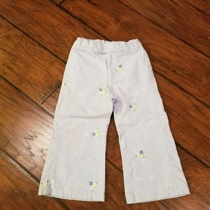 babyGap floral embroidery pants